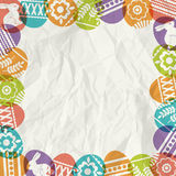 Paper background with frame of easter eggs Royalty Free Stock Photography