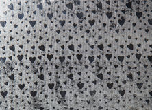 Paper background with grey heart shape Royalty Free Stock Photography