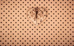 Paper background. Heart origami. Paper polka dots. Paper texture. stock photos
