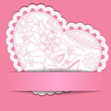 Paper background with Heart Stock Photo