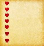 Paper background with  hearts Royalty Free Stock Photo