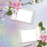 Paper background with stamp-frames Royalty Free Stock Photo