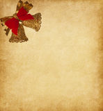Paper background with  two bells Royalty Free Stock Photos