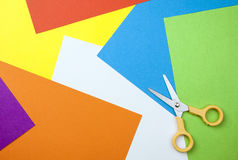 Free Paper Background With Scissors Royalty Free Stock Photography - 28526667