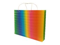 Paper bag. Colorful paper bag on a white background Royalty Free Stock Images