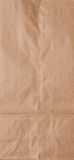 Paper bag. Brown paper school lunch bag background Stock Images