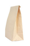 Paper bag. Brown paper bag isolated over white background Royalty Free Stock Photos