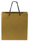 Paper-bag. Golden beamless paper-bag with cords Royalty Free Stock Photo