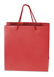 Paper-bag. Red beamless paper-bag with cords Royalty Free Stock Photos
