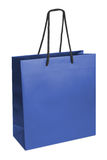 Paper-bag. Blue beamless paper-bag with cords Royalty Free Stock Image