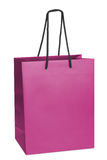 Paper-bag. Pink beamless paper-bag with cords Stock Image