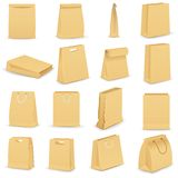 Paper Bag. Vector illustration of collection of brown paper bag Royalty Free Stock Images