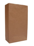 Paper bag. A paper bag to fill in what you want Stock Images
