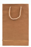 Paper bag. On white royalty free stock images