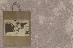 Paper bag agriculture design Stock Images