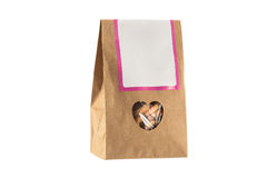 Paper bag with bio food inside isolated Royalty Free Stock Image
