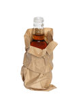 Paper Bag With Bottle Stock Image