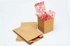 Paper Bag And Box Stock Photography