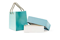 Paper bag and box Stock Photos