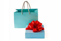 Paper bag and box royalty free stock photo
