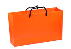 Paper bag bright orange color. Stock Photography
