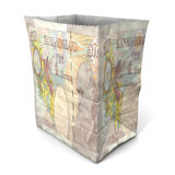 Paper bag british pound back Stock Photography