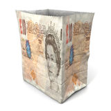 Paper bag british pound front Stock Photo
