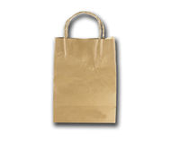 Paper bag  brown and shadow Royalty Free Stock Images