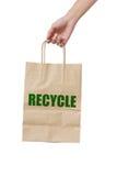 Paper Bag Carrying. Stock Photos