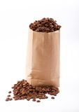 Paper bag with coffee beans. Stock Photos