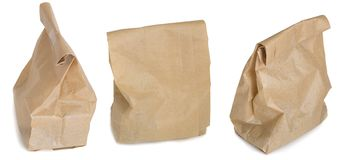 Paper bag collection Stock Photos