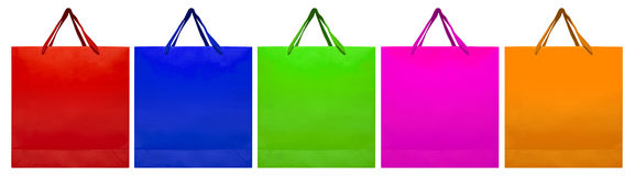 Paper bag - colorful Royalty Free Stock Photography