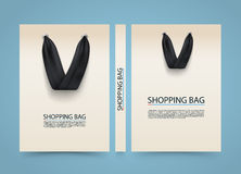 Paper bag cover, Shopping advertising banner, A4 size book. Paper bag cover, Shopping Bag advertising banner, A4 size book, Vector illustration Stock Illustration