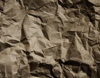 Paper bag dark brown wrinkled raw paper 02 Royalty Free Stock Photo
