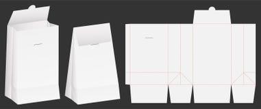 Paper bag die cut mock up template vector vector illustration