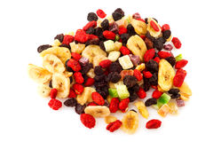 Paper bag with dried fruit Royalty Free Stock Photography