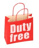 Paper bag with duty free sign royalty free stock photography