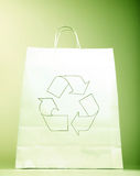 Paper bag with ecology sign Royalty Free Stock Photography