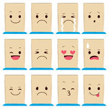 Paper Bag Face Expressions Royalty Free Stock Images