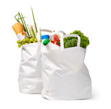 Paper bag with food Stock Images