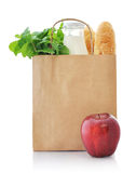 Paper bag with food Royalty Free Stock Photography