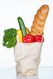 Paper bag full of food Stock Photo