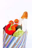 Paper bag full of vegetables Royalty Free Stock Image