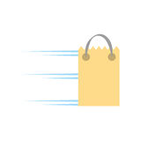 Paper bag gift delivery fast. Illustration eps 10 Royalty Free Stock Photos