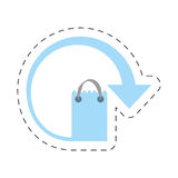 Paper bag gift delivery merchandise. Illustration eps 10 Royalty Free Stock Photos