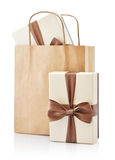 Paper bag with gifts Royalty Free Stock Image