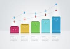 Paper Bag Graph Stock Images