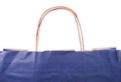 Paper bag with handles fragment. Paper bag with a handles fragment isolated Stock Image