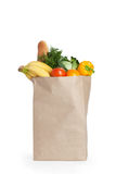 Paper bag with healthy food Stock Photo
