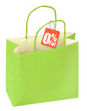 Paper bag with healthy food Stock Image